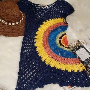 Rainbow Knit Coverup